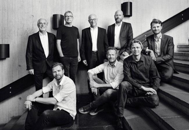 portræt gruppebillede arkitekter trappe aarhus