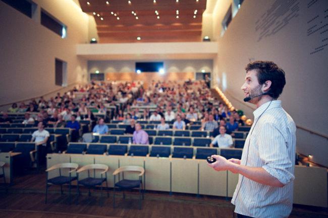 Foredrag i Søauditoriet, Aarhus Universitet