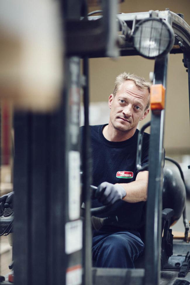 PR billede, lagermedarbejder, Frode Laursen Aarhus